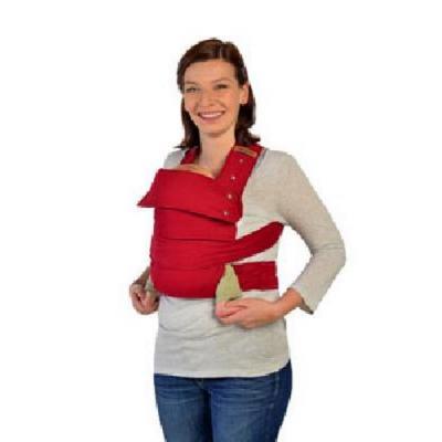 Marsupi Babytrage aus Baumwolle mit Klettverschluß c rot