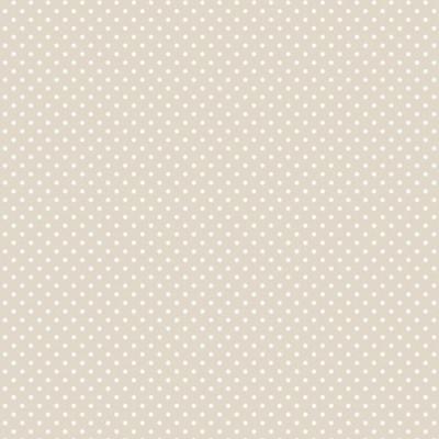Ersatzbezug Baumwolle für Theraline Original Punkte beige