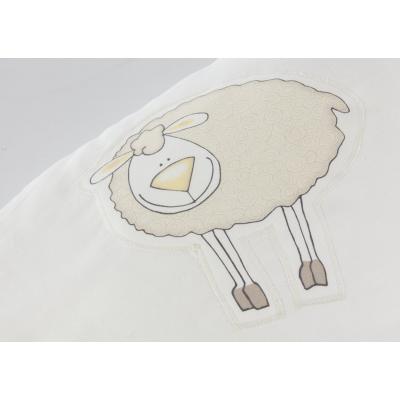 Ersatzbezug Baumwolle für Theraline Original Applikation Schaf beige