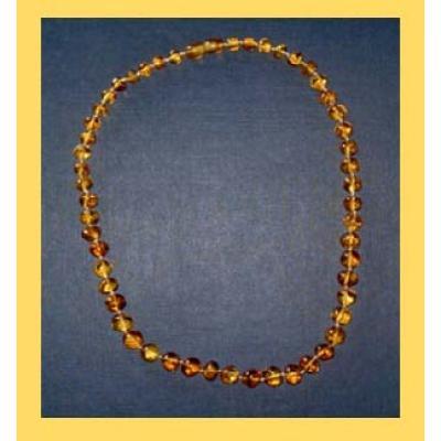 Bernsteinkette unifarbene Steinchen ca. 42 cm