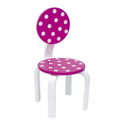 Jabadabado Kinderstuhl pink mit Punkten