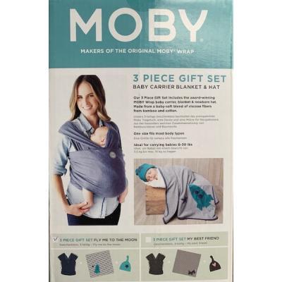 Moby Wrap Geschenk-Set denim stripe 3 tlg. My best friend