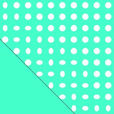 Ersatzbezug Baumwolle für Theraline Original inide dots gürn