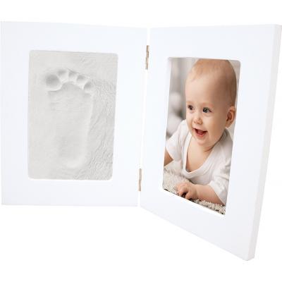 Hand & Fußabdruck mit weißem Doppelrahmen