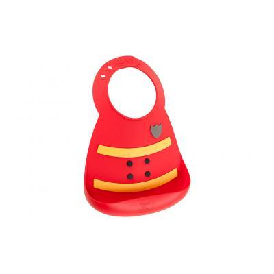 Babylätzchen Feuerwehr Make My Day superweiches Silikonlätzchen