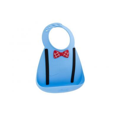 Babylätzchen Gentleman blau Make My Day superweiches Silikonlätzchen