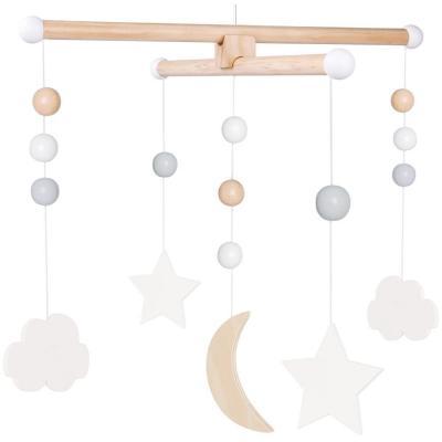 Mobile Mond und Sterne Holz im Geschenkkarton