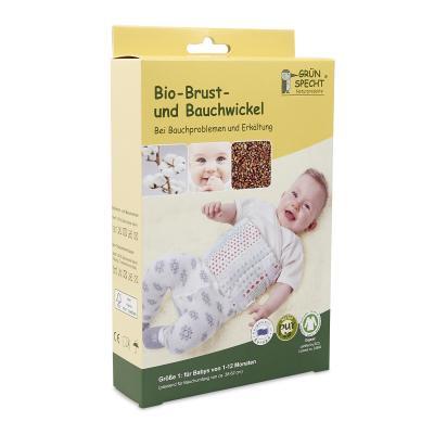Bio Brust und Bauchwickel Größe 1 für Babys