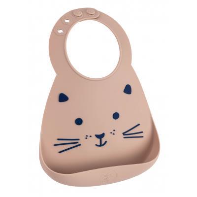 Make My Day Silikonlätzchen mit Krümellasche Katze