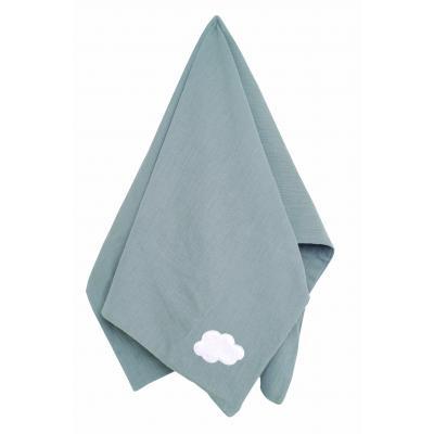 Babydecke Puckdecke grau 100 % Baumwolle soft muslin