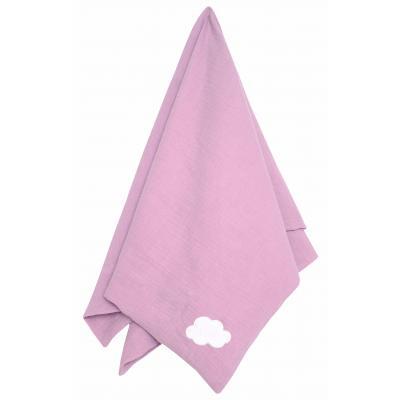 Jabadabado Babydecke rosa 100 % Baumwolle soft muslin personlisierbar