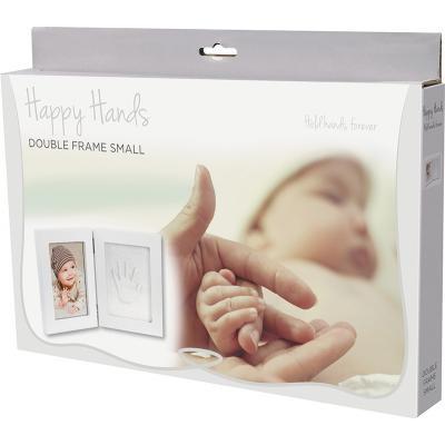 Happy Hands Doppelbilderrahmen weiß Holz