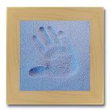 SandMemorie Hand-Set blau mit Holzrahmen