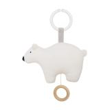 Spieluhr Eisbär weiß mit Befestigungsring