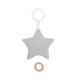 Jabadabado Spieluhr Stern grau mit Befestigungsring
