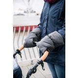 Eisbärchen Handwärmer Kinderwagenmuff Universalgröße für Kinderwagen Jogger, Buggy