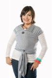 Moby Wrap elastisches Tragetuch Denim Stripes